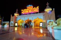 对幻想曲宫殿, Sharm El谢赫,埃及的队列 库存图片