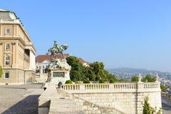 对开胃菜的尤金的纪念碑。布达佩斯,匈牙利 库存图片