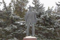 对弗拉基米尔・伊里奇・列宁的纪念碑在手段的列宁公园 库存照片