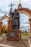 对弗拉基米尔王子的纪念碑 免版税库存照片