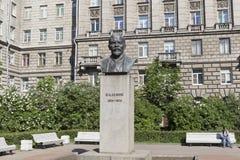 对弗拉基米尔・伊里奇・列宁的纪念碑彼得格勒边的Bolshoy的Prospekt在市圣彼德堡 图库摄影