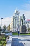 对弗拉基米尔・马雅科夫斯基的纪念碑在莫斯科(俄罗斯) 库存照片