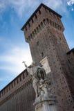 对弗朗切斯科Sforza的纪念碑Sforza城堡的 图库摄影