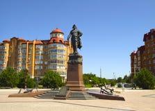 对彼得一世的纪念碑 免版税图库摄影