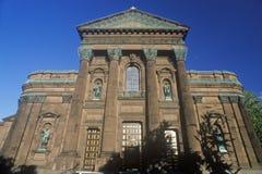 对彼得和保罗,费城, PA大教堂的入口  免版税图库摄影