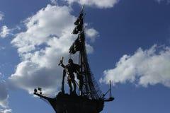 对彼得的纪念碑我莫斯科市 库存照片