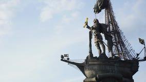 对彼得的纪念碑我蓝天背景的 股票录像