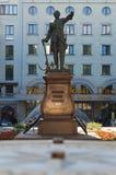 对彼得的纪念碑第一在市的Petrovsky公园沃罗涅日 库存图片