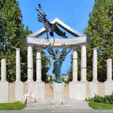 对德国职业的受害者的纪念品在布达佩斯 库存图片