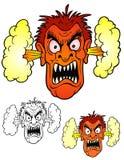 绝对恼怒的面孔 库存照片