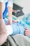 对患者的急救ER的 库存图片
