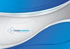 对您的企业蓝色背景设计 免版税库存图片