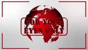 仅对您的眼睛 股票录像