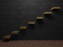 对成功内部透视的楼梯 库存照片