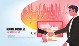 对成功帮助的企业队ver2的全球企业 皇族释放例证