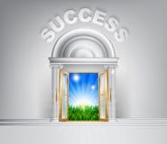 对成功概念的门 库存照片