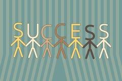 对成功的队工作 向量例证