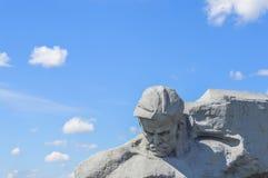 对战争的勇敢的纪念碑 免版税库存图片