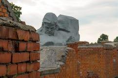对战争的布雷斯特入口堡垒主要纪念品 第二次世界大战的记忆 免版税库存照片