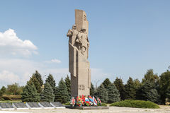 对战士的纪念碑在战争中 免版税库存图片