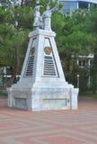 对战斗机的纪念碑苏维埃的力量的,在南北战争死1918-1922在俄罗斯 Gelendzhik,俄罗斯 免版税图库摄影