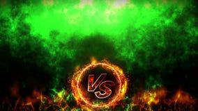 对战斗背景 争斗和比较概念圈动画 对争斗战斗体育竞赛 影视素材