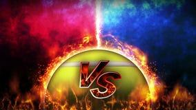 对战斗背景 对争斗战斗 ?? 体育争斗概念圈动画 库存例证