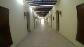 对房间的长的走廊 股票视频