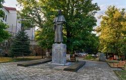 对所罗门Dodashvili的纪念碑在西格纳吉市 佐治亚 免版税图库摄影