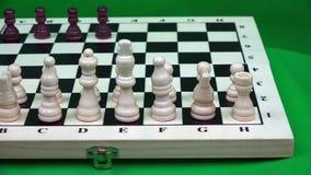 对手安置在棋枰的一定数量的黑色形象 影视素材