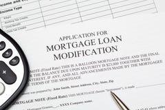 对抵押贷款修改的申请 图库摄影