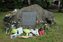 对拒服兵役者的纪念品在Tavistock广场伦敦 免版税库存图片