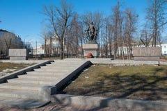 对捍卫和平的战士的纪念碑 库存图片