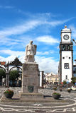 对探险家Goncalo大广场的Velho Cabral的纪念碑 库存照片