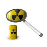 对放射性材料的分析 免版税库存图片