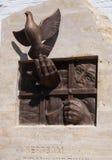 对政治迫害的受害者的一座纪念碑。海岛Sviya 图库摄影
