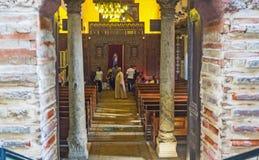对教会的入口 免版税库存照片