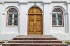 对教会的入口 库存照片