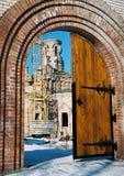 对教会的门 库存照片