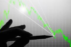 对数据图的分析关于显示的 免版税库存图片