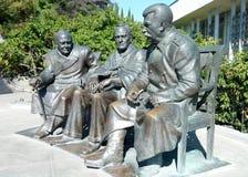 对斯大林、丘吉尔和罗斯福的纪念碑 库存照片