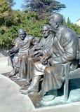 对斯大林、丘吉尔和罗斯福的纪念碑 免版税图库摄影
