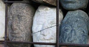 对斯大林主义抑制的受害者的纪念碑由雕刻家叶夫根尼丘巴罗夫的 股票视频