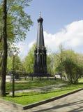 对斯摩棱斯克市的防御者的纪念碑 库存照片