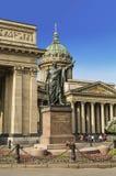 对斯摩棱斯克的元帅库图佐夫王子的纪念碑喀山大教堂的在圣彼德堡 库存图片