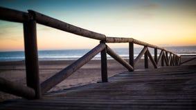 对方式的海滩 免版税库存照片