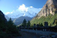对方式的annapurna ghyaru尼泊尔 库存照片