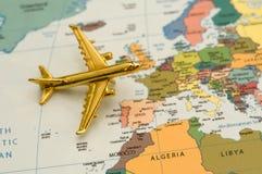 对旅行的欧洲飞机 免版税图库摄影