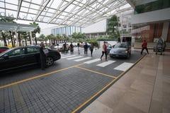 对旅馆小游艇船坞海湾沙子的入口在新加坡 库存照片