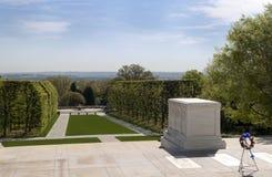 对无名战士的坟茔 免版税库存照片